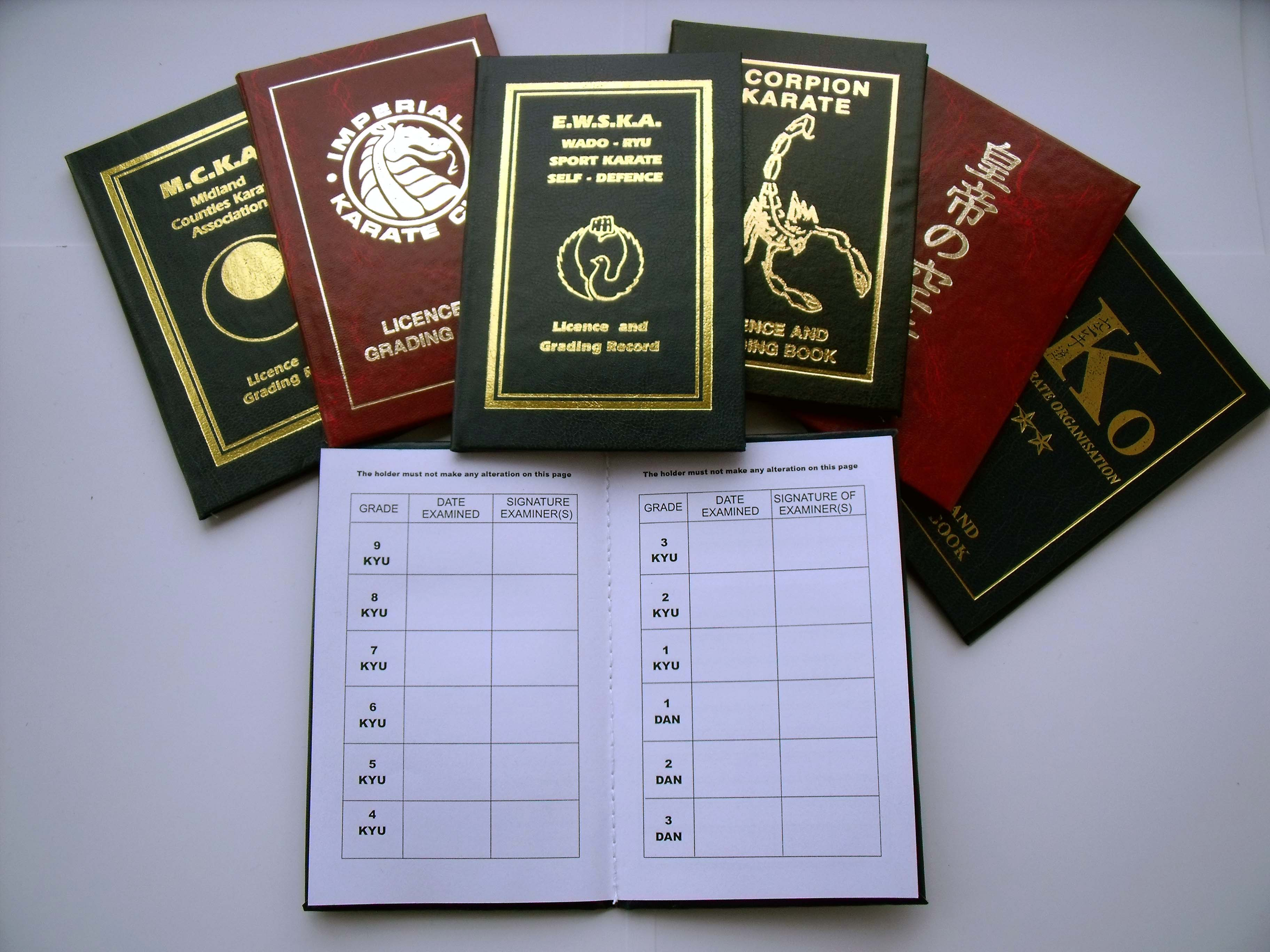 Karate Licence Books