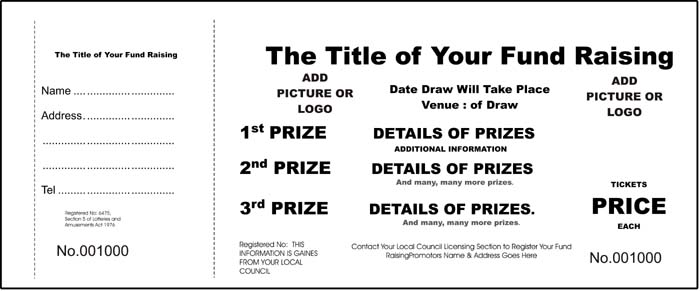 Raffle Ticket Templates Free For Word | New Calendar Template Site