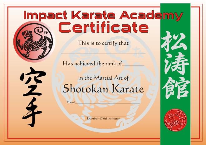 Martial arts certificate template karate certificate templates
